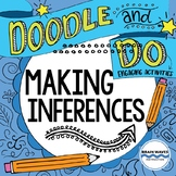 Inferencing - Doodle Notes and Activities for making inferences - Sketchnotes