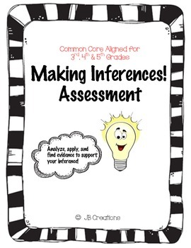 Inferencing (Drawing conclusions) Common Core Assessment f
