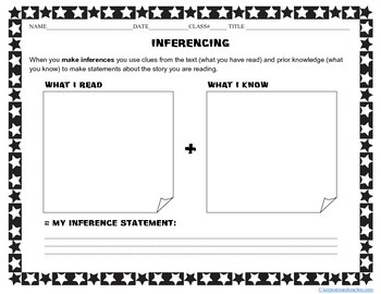 Inferencing Graphic Organizer