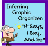 """Inferring Graphic Organizer- """"It Says, I Say and So"""""""