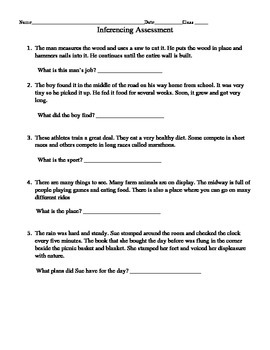 Inferencing Guided Notes, Practice, & Assessment