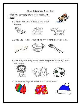 Inferencing Homework Sheet (Differentiated Levels)