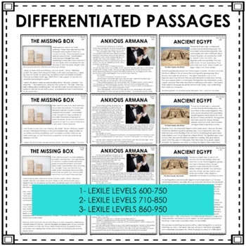Inference Reading Passages, Inference Task Cards and Anchor Charts