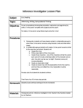 Inferencing Investigators - Part 2