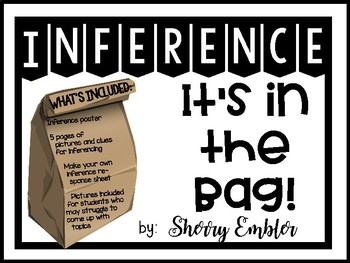 Inferencing!  It's In The Bag! Games and Activities