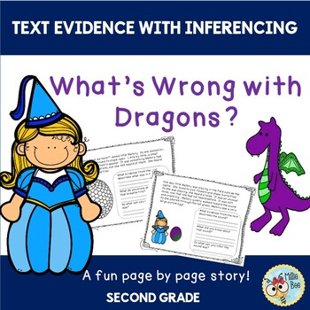 ELA Text Evidence with Inference - Dragon Themed