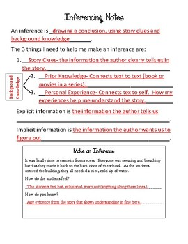 Inferencing Notes