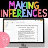 Inferencing Passages with Text Evidence DIGITAL Distant Learning