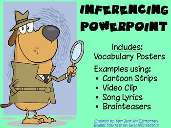 Inferencing Powerpoint: Video, Comics, Songs, & Vocabulary