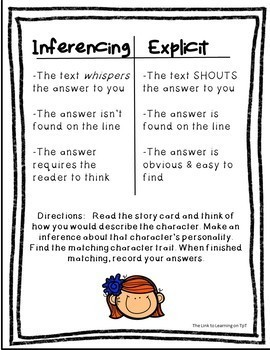 Inferencing Practice: Inference Character Traits
