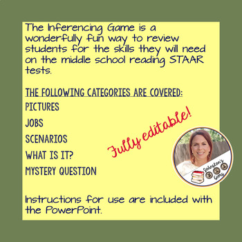 Inferencing Practice Game- Secondary ELAR Test Prep