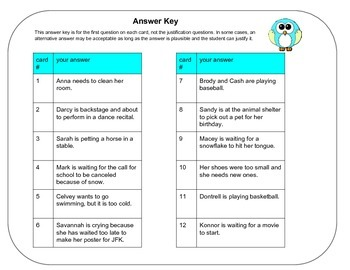 Inference task cards (12 passages) print with or without QR codes