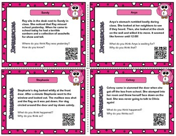 Inference task cards Set Two - With and Without QR codes