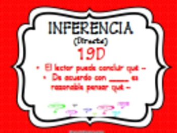 Inferencing Questions Posters English & Spanish