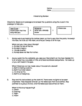 Inferencing Review