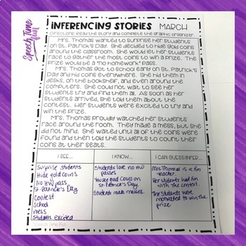 Inferencing Stories for the Year