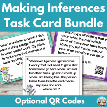 Making Inferences Task Card Bundle with Optional QR Codes
