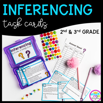Inferencing Task Cards 2nd & 3rd Grade