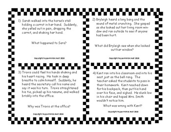 Inferencing Task Cards - Fiction - Small Group Work