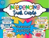 Inferencing Task Cards: Seasonal BUNDLE!