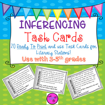 Inferencing Task Cards for Literacy Stations