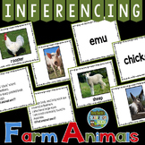 Inferencing Task Cards with Farm Animals