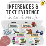 Inferencing & Text Evidence Seasonal Bundle - Scaffolded