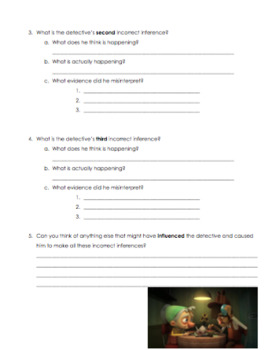 Inferencing Through Video - Incorrect Inferences Activity