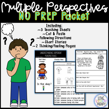Inferencing & Understanding Multiple Perspectives Unit -NO PREP #springintosped2