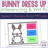 Inferencing & WH Questions Bunny BOOM Cards™ for Speech Therapy