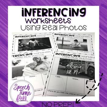 Inferencing Worksheets Using Real Photos (no prep)