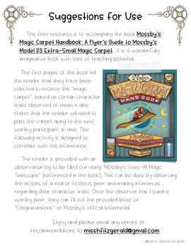 Inferencing and Character Traits: Mossby's Magic Carpet Handbook Companion