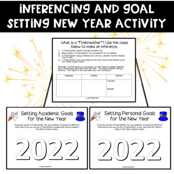 Inferencing and Goal Setting New Year Activity