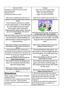 Inferencing and Main Idea
