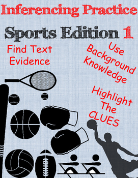 Inferencing practice ~ Sports Edition 1 ~ NEW LISTING