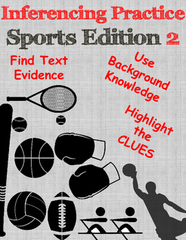 Inferencing practice ~ Sports Edition 2 ~ NEW LISTING
