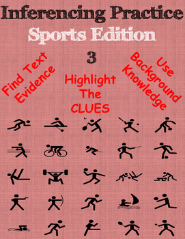 Inferencing practice ~ Sports Edition 3 ~ NEW LISTING