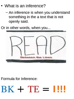 Inferencing using Formula BK+TE=I