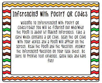 Inferencing with Poetry QR Codes - Differentiated