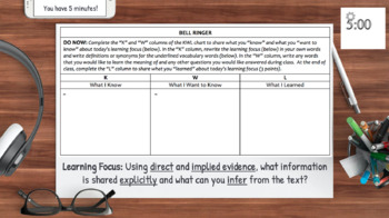 Inferencing with VIDEOS: Lesson Plan & Activities NO PREP: CCSS.ELA.RL.1 & RI.1