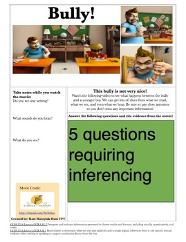 Inferencing with Video Clips- Bully!