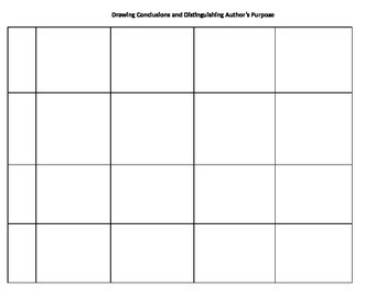 Inferenrring, Drawing Conclusions, & Recognizing Purpose and Function
