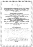 Inferential Questions Worksheet
