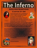 Inferno Analysis Questions Cantos 31-34