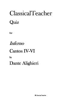 Inferno Cantos IV-VI
