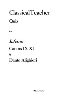 Inferno Cantos IX-XI