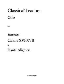 Inferno Cantos XVI-XVII