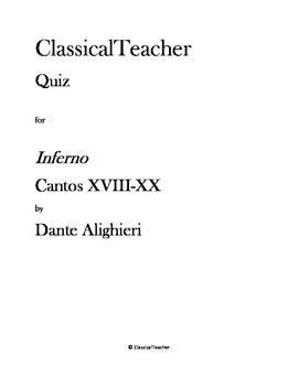 Inferno Cantos XVIII-XX