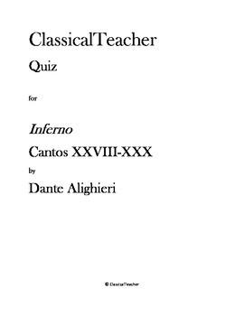 Inferno Cantos XXVIII-XXX
