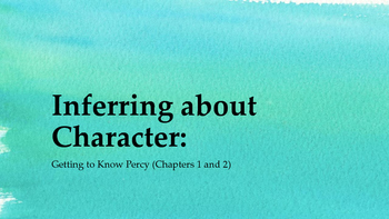 Inferring About Character: G6M1U1L4